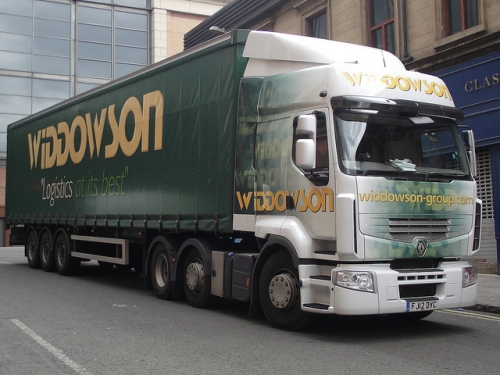 Vehicle wrap for the Widdowson lorry fleet