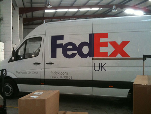 Sign makers vehicle graphics for FedEx