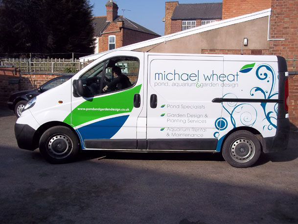 Sign maker vehicle graphics for Michael Wheat