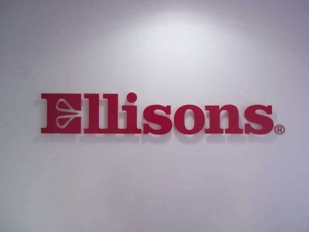 Sign makers indoor signs for Ellisons reception areas