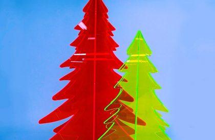 perspex christmas trees